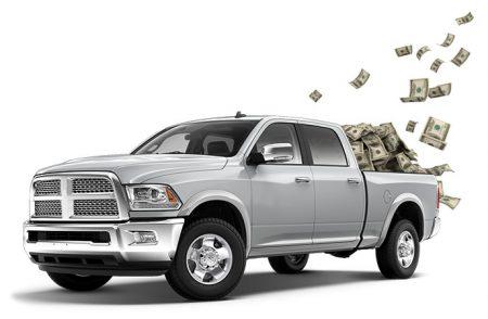 truck full of cash