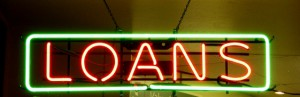 neon sign for Loans